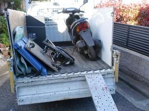 川崎店放置バイク回収